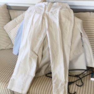 White linen Boys pants